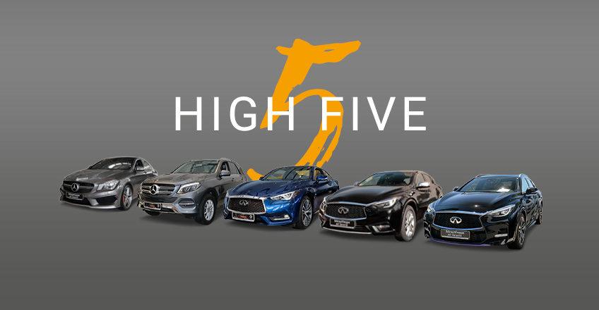 High 5 bei Kubina: Einschlagen zum Top-Preis mit unseren Top-5-Gebrauchtwagen
