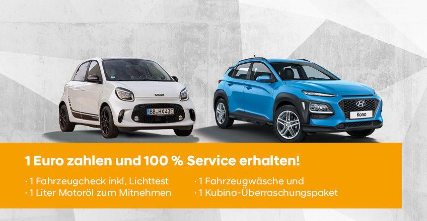 Servicepaket für alle Hyundai- und smart-Kunden