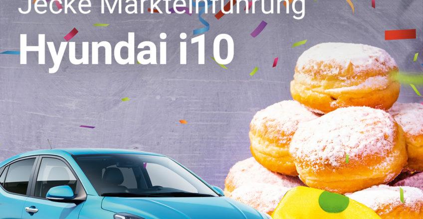 Komm loss mer fiere!  Der neue Hyundai i10 ist da und wir laden zur jecken Präsentationsfeier ein. B…