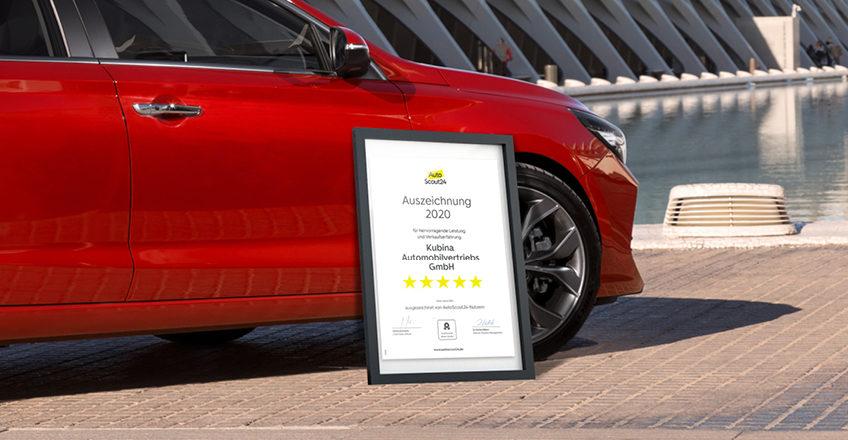 5 Sterne für Kubina: AutoScout24 Auszeichnung für hervorragende Leistung