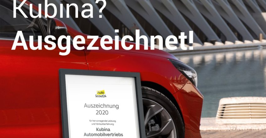 Das Kubina Carcenter ist ausgezeichnet  – das finden auch unsere Kunden und haben auf AutoScout24 fl…